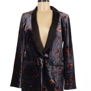 Anthropologie Cartonnier Blazer Velvet Size 6